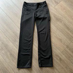 Athleta pants fleece lined black size medium tall